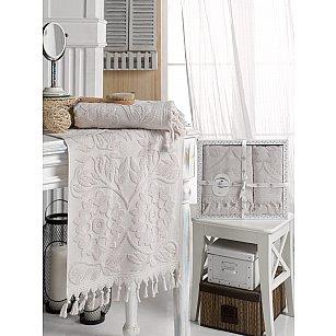 Комплект махровых полотенец DO&CO AMAZON (50*90, 70*140), лиловый