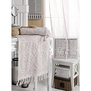 Комплект махровых полотенец DO&CO AMAZON (50*90, 70*140), серый