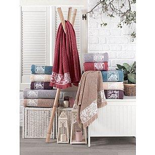 Комплект махровых полотенец DO&CO ROSE, 50*90 см - 6 шт