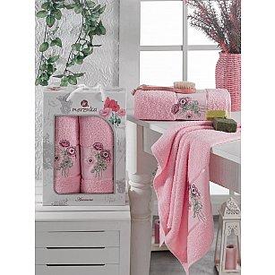 Комплект махровых полотенец MERZUKA ANEMONE (50*80; 70*130), светло-розовый