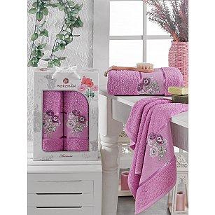 Комплект махровых полотенец MERZUKA ANEMONE (50*80; 70*130), светло-лиловый
