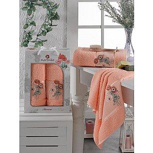 Комплект махровых полотенец MERZUKA ANEMONE (50*80; 70*130), оранжевый