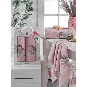 Комплект махровых полотенец MERZUKA ANEMONE (50*80; 70*130), розовый