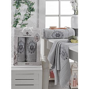 Комплект махровых полотенец MERZUKA BOSS (50*80; 70*130), серый