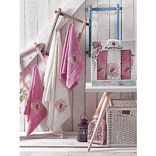 Комплект махровых полотенец MERZUKA BOTANIC (50*80*2; 70*130), светло-лиловый