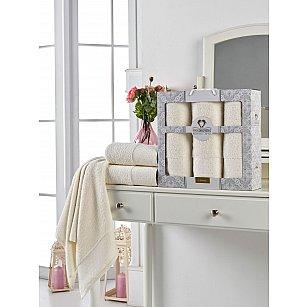 Комплект махровых полотенец TWO DOLPHINS LENNY (50*90*2; 70*140), кремовый