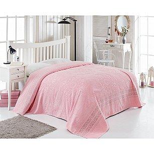 Простынь махровая с бахромой TWO DOLPHINS MARBELLA, розовый, 200*220 см