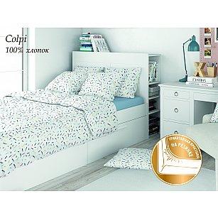 КПБ поплин детский Eco cotton combo Colpi с трикотажной простыней (1.5 спальный)