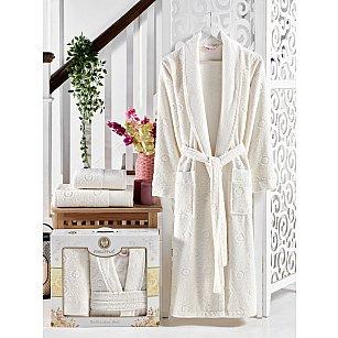Набор из женского халата и полотенец Philippus Lenny, кремовый