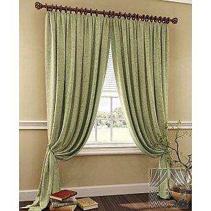 """Комплект штор """"Тривор"""", зеленый, 280 см"""