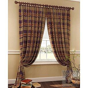 """Комплект штор """"Эйр"""" (коричнево-фиолетовый), 280 см"""