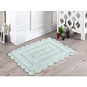 """Махровое кружевное полотенце для ног """"MODALIN EVORA"""", светло-зеленый, 50*70 см"""