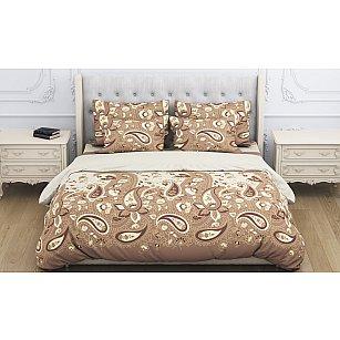 КПБ бязь exclusive Paysle (1.5 спальный), коричневый