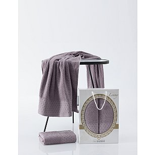 Комплект махровых полотенец TWO DOLPHINS LENNY (50*90; 70*140), баклажан