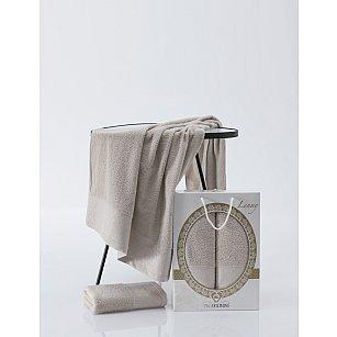 Комплект махровых полотенец TWO DOLPHINS LENNY (50*90; 70*140), молочный