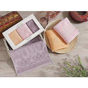 """Комплект кухонных полотенец бамбук """"KARNA PANDORA"""", v1, 30*50 см - 3 шт"""