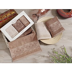 """Комплект кухонных полотенец бамбук """"KARNA PANDORA"""", v6, 30*50 см - 3 шт"""