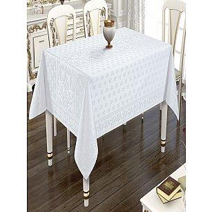 Скатерть бамбук Do&Co, белая, 160*220 см