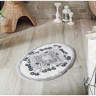 """Коврик для ванной овальный """"MODALIN VERA"""", серый, 50*80 см"""