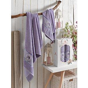 Комплект махровых полотенец MERZUKA ROSE (50*80; 70*130), лиловый