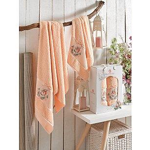 Комплект махровых полотенец MERZUKA ROSE (50*80; 70*130), оранжевый