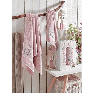 Комплект махровых полотенец MERZUKA ROSE (50*80; 70*130), розовый