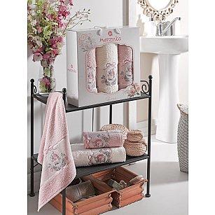 Комплект махровых полотенец MERZUKA ROSE (50*80*2; 70*130), розовый
