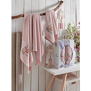 Комплект махровых полотенец MERZUKA VIOLET (50*80; 70*130), розовый