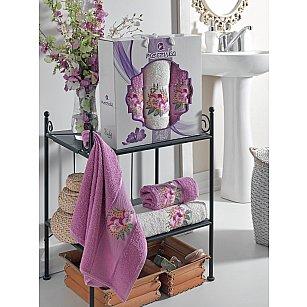 Комплект махровых полотенец MERZUKA VIOLET (50*80*2; 70*130), светло-лиловый