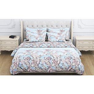 КПБ бязь Shaherezada (2 спальный), коричненый, голубой