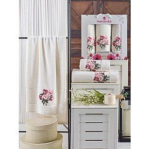 Комплект махровых полотенец MERZUKA EMOTION (50*90*2; 70*140), кремовый