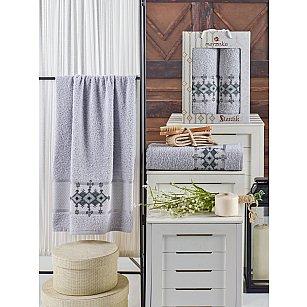 Комплект махровых полотенец MERZUKA OTANTIC (50*90; 70*140), светло серый