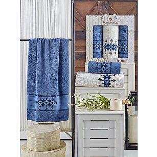 Комплект махровых полотенец MERZUKA OTANTIC (50*90*2; 70*140), темно-голубой