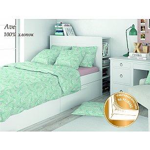 КПБ поплин детский Eco cotton combo Ave с трикотажной простыней (1.5 спальный)