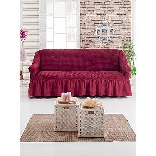 """Чехол для дивана """"DO&CO"""" трехместный, бордовый"""