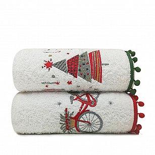Комплект махровых полотенец Arya Рождество Sone, 50*90 см - 2 шт