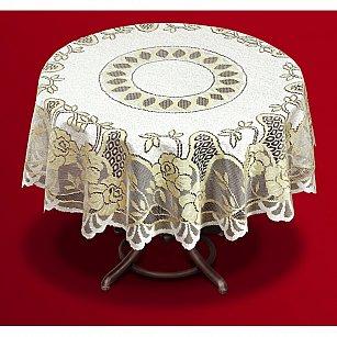 Скатерть №202603-140, кремовая, золотая