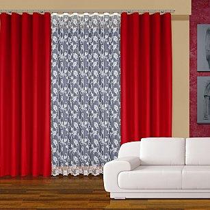 Комплект штор №202750, красный