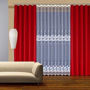 Комплект штор №202760, красный