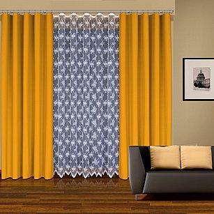 Комплект штор №202950, желтый