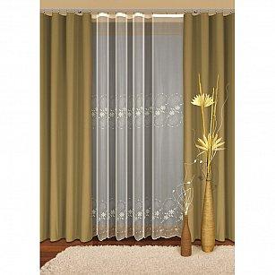 Комплект штор №203120-250, оливковый