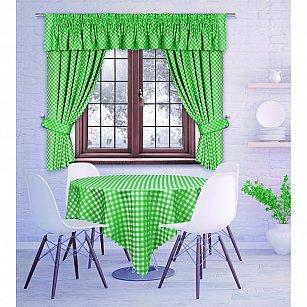 Комплект штор Margareta, зеленый