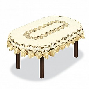 Скатерть №204851, кремовая, золотая