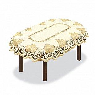 Скатерть №205141, кремовая, золотая