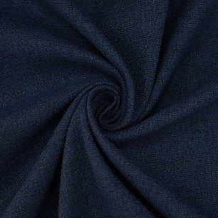 Шторы лен однотонный Amore Mio RR 2014-35, синий, 200*270 см