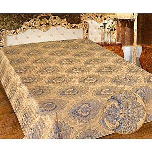 Покрывало I.M.A. Жаккард-атлас №216-1, золотой, синий