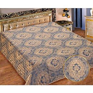 Покрывало I.M.A. Жаккард-атлас №216, золотой, синий