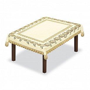 Скатерть №227930, кремовый, золотой
