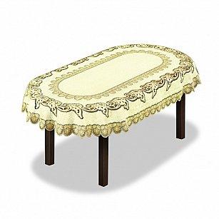 Скатерть №227931, кремовый, золотой