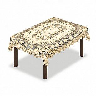 Скатерть №228649-100, кремовая, золотая